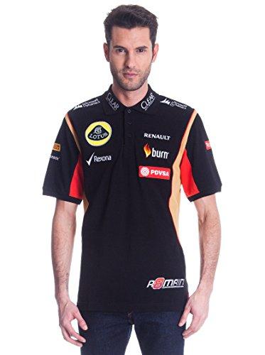 Polo Shirt Herren Formel 1Lotus F1& # xfffd; Team petróleos de Venezuela Grosjean 2014/5, Herren, schwarz
