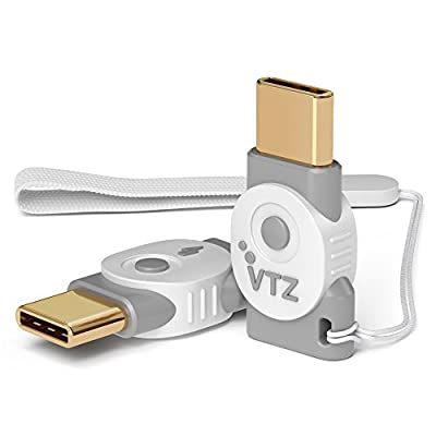 Volutz Micro-USB to USB-C Adapter [2-Pack] Fast Charge and Convert Data via OTG Micro Female to Type-C Male for MacBook Pro, Samsung Galaxy S9 S8 Note 8, LG V30, 2XL & More USB-C Devices Ghost-white