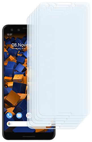 mumbi Schutzfolie kompatibel mit Google Pixel 3 Folie klar, Bildschirmschutzfolie (6x)