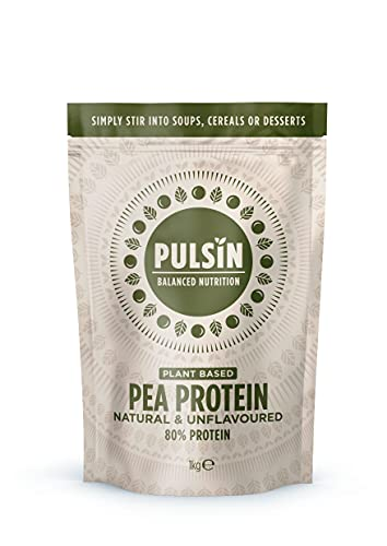 Pulsin, Snacks Isolate Powder PI, Tan, Plant Based Pea Protein, 1kg