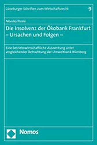 Die Insolvenz der Ökobank Frankfurt – Ursachen und Folgen –: Eine betriebswirtschaftliche Auswertung unter vergleichender Betrachtung der Umweltbank Nürnberg