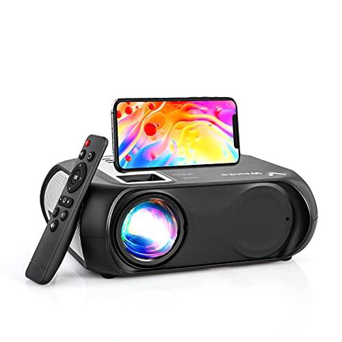 """Proiettore Portatile,Proiettore Wifi Bluetooth Videoproiettore,Proiettore Full HD 1080P,Portatile 6500 Lumen con Display da 200"""",Compatibile con USB   HDMI   AV   Aux da 3,5 mm (nero)"""