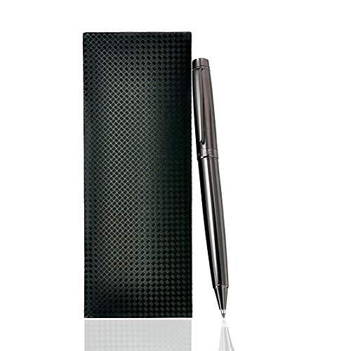 Giabo® Mizu | edler Kugelschreiber in hochglanz | Hochwertiger Kugelschreiber mit einem präzisem Drehmechanismus | Rollerball aus einer Mischung 202 Edelstahl/Kupfer