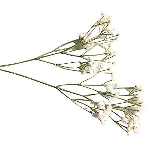 Andouy Künstlich Baby Atmen Blume DIY Fälschung Gypsophila Blumenstrauß Arrangieren Hochzeit Party Zuhause Dekoration(1 PC.Weiß-1)