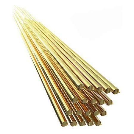 KKmoon 20PCS Brass Welding Brazing Rods Electrode 1.6mm333mm Soldering Rod No Need Solder Powder