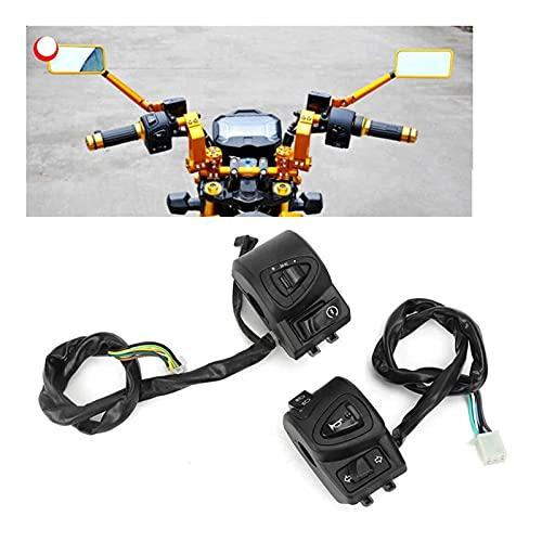 GIS Control de Interruptor de luz de Haz bajo 22 mm / 0.9in Apertura de Montaje de Ajuste de Montaje para Motocicletas ATV ATV ABS + PVC Accesorio de Motocicleta
