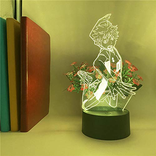 3D LED Optical Illusion Lamp Anime7 Colors Changing Sleep Light Decor Gift Home Toys Baby Acrylic Children Decoration Room Birthday-16 colors remote