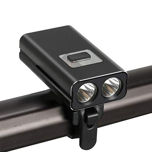 ZOUSHUAIDEDIAN USB Recargable luz de la Bici, 600 lúmenes de luz LED de Bicicletas, de Gran Capacidad 2200mAh Linterna de la Bici, 6 Modos de luz, Adapta a Todas Las Motos