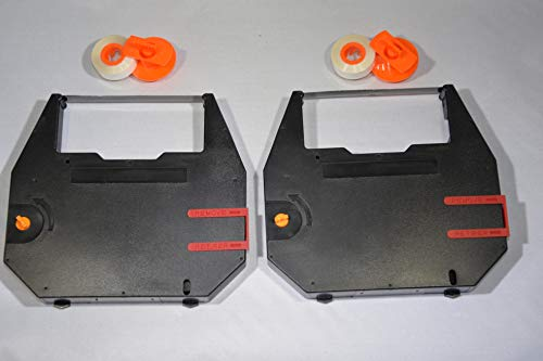 FJA Products Compatible Typewriter Ribbon & Correction Tape Spool for Nakajima AE-500 / AE-700 Typewriters. The Package Includes 2 Black Typewriter Cassettes and 2 Lift Off Correction Tape Spools
