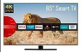 JVC LT-65VU8055 65 Zoll Fernseher (4K Ultra HD, HDR, Triple Tuner, Smart TV, Bluetooth, Works with Alexa) [Modelljahr 2021]