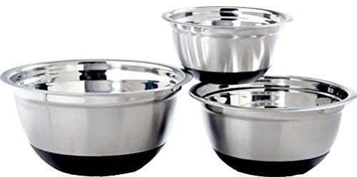 GARIAN Anti-Skid Mixing Bowls, Stainless Steel, Set of three