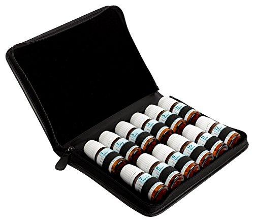 Taschenapotheke für 12 Schüßlersalze aus schwarzem Leder