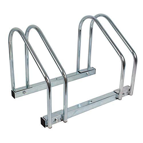 Baumarktplus Fahrradständer für 2 Fahrräder Räder Fahrrad Ständer Rad Aufstellständer Bike Mehrfachständer Bodenparker