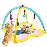 FFSM Katzenspielzeug Cat Hanging Spielzeug-Zelt Hangning mit Bell Ball Pet Entertainment Spielzeug Hanging Interactive Kugel Cat Indoor-Spielspielzeug Cat Activity Center plm46