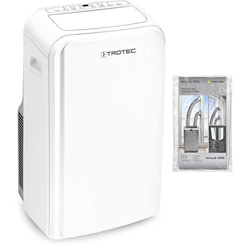 TROTEC Lokales Klimagerät PAC 3500 SH mobile 3,5 kW Klimaanlage 4-in-1-Klimagerät zur Kühlung Klimatisierung und Heizung 2,9kW [EEK A] ink. Airlock 1000