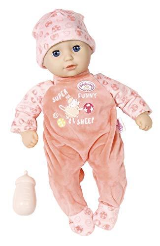 Zapf Creation 704554 Baby Annabell Little Annabell Puppe mit weichem Stoffkörper und Schlafaugen 36 cm, rosa, Online Verpackung