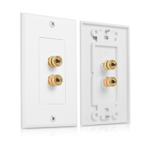 Cable Matters 2-Pack Speaker Wire Wall Plate (Speaker Wall Plate,...