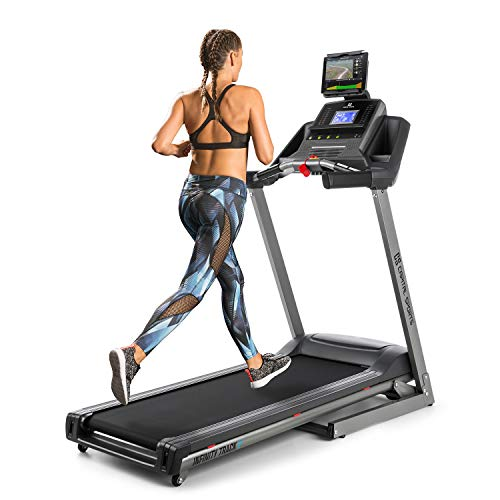Capital Sports Infinity Track 2.0 - Tapis Roulant, Training Aerobico, 5 HP, Bluetooth, App Kinomap, LCD, Grigio