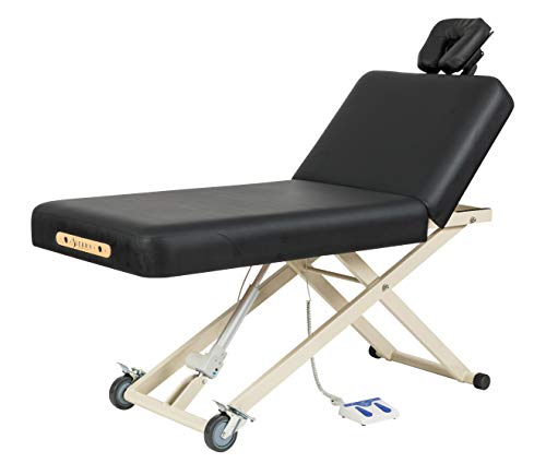 SierraComfort Standard 2-Section Electric Lift Massage Table, SC-3001, Black (SC-3001-BLACK)