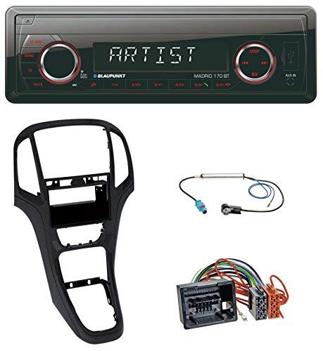 caraudio24 Blaupunkt Madrid 170 BT MP3 USB AUX Bluetooth SD Autoradio für Opel Astra J ab 2009 Perl schwarz