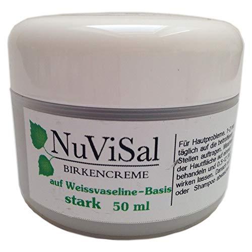NuViSal Birkensalbe mit Birkenteer stark 1er Pack (1 x 50 ml) Teersalbe bei Ekzeme und Schuppenflechte – Plaque Psoriasis Creme Naturprodukt Finnland