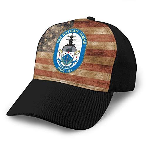 USS Nathan James(DDG-151) Unisex Adult Hats Classic Baseball Caps Peaked Cap Black