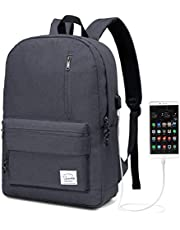 Vaschy リュック ビジネスリュック PCバッグ メンズ レディース 大容量 USB充電ポート付き ラップトップバック 旅行 通学 通勤 出張 男女兼用