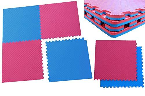 Creation Gross Sportmatte Steckmatte Judo Karate Yoga Kampfsport Rot-Blau 1mx1mx0,02m (0510120)