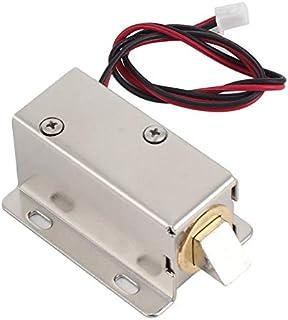 Elektromagnetische Verriegelung DC12V Elektronische Zugangskontrolle T/ürschloss f/ür Kabinettfach-Sicherheitsschloss Intelligentes Schloss Mini-T/ür-Fach-Zunge unten elektrischer Verschluss