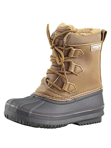 LONDON FOG Boys Cheshire Cold Weather Snow Boot Cognac 4