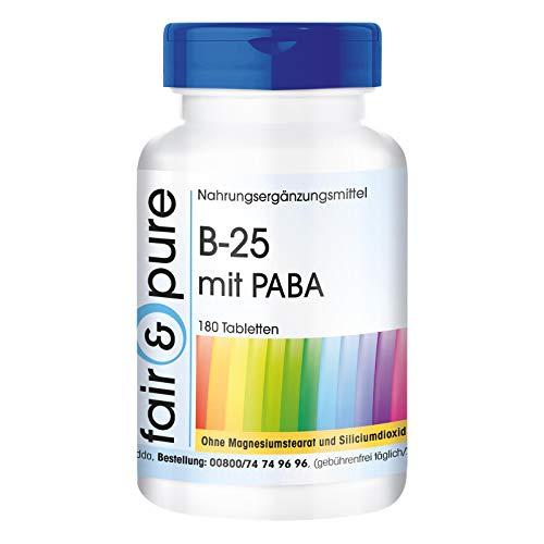Complesso di vitamine del gruppo B con PABA - Vegano - Alto dosaggio - 180 Compresse