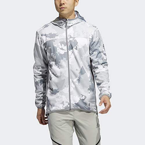 adidas Sudadera con Capucha para Hombre, diseño de Camuflaje, Color Blanco, M