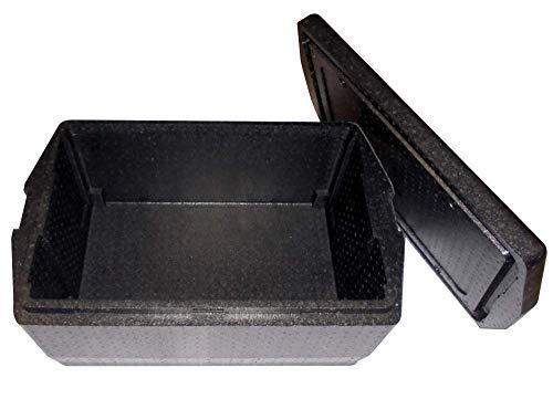 BOX GEL pZ 1 récipient Isotherme Super Résistant cm 68 x 45 Haut cm 30 (mesures extérieures) Caisse Thermique Noire pour emporter Aliments en polystyrène