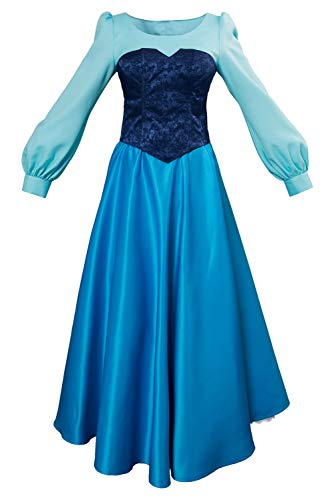 Kleine Meerjungfrau Prinzessin Kleid Mermaid Ariel Princess Dress Cosplay Kostüm Damen S