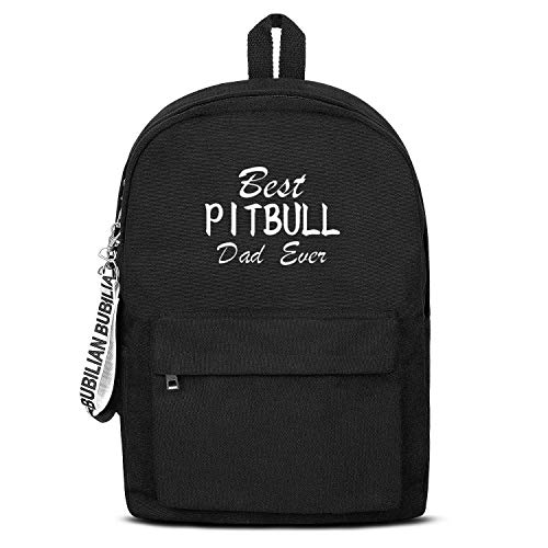 "WJINX Best Pitbull Dad Ever Print School Backpack Unisex Lightweight Bookbag 16.5""x11.5""x5"""