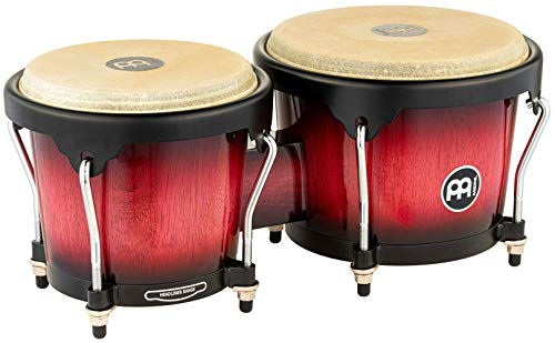 Big Sale Best Cheap Deals Meinl Percussion HB100WRB Headliner Series Wood Bongos, Wine Red Burst