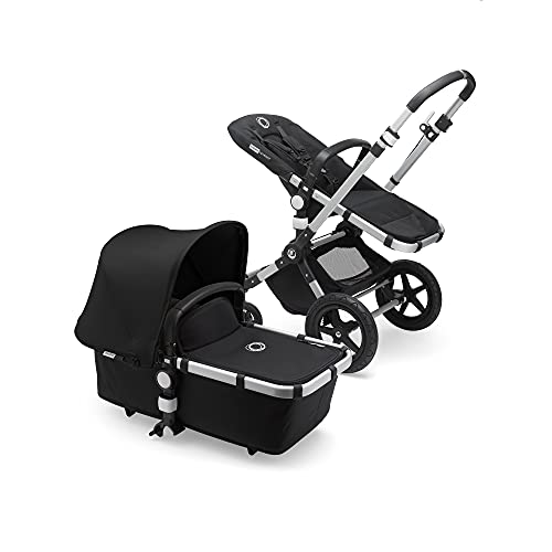 Bugaboo Cameleon 3 Plus, 2 in 1 Pram and Pushchair with Reversible Handlebar, with Aluminium Frame and Black Fabrics
