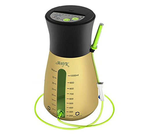1000ml Health Hygiene Portable Coffee/Water Electric Air Pump Anus Defecating Device Cleaner Enemator Enema YST615 for Constipation Press Protection