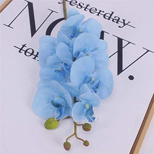 Kunstbloemen Real Touch Kunstmotten Orchidee Vlinderorchidee voor nieuw huis Home Bruiloft Festival Decoratie, Blauw