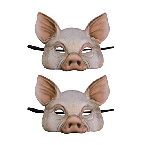 STOBOK Pig Mask Half Face Pig Masks for Halloween Festival Masquerade...
