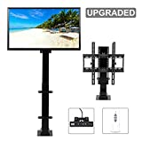 CO-Z Motorized TV Mount Lift for 30' - 65' TVs Height Adjustable up to 57', 15° Tiltable 154lbs Weight Capacity, 60° Swivel TV Bracket with Remote Control Automatic Safety Stop