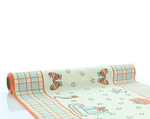 Sovie HOME Tischläufer Amy in Lachs | Linclass® Airlaid | Tischtuch Tischdecke Weihnachten Tischband | 40cm x 4,80m