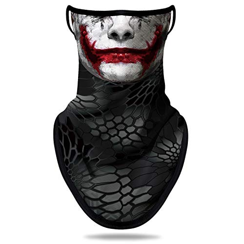 NTBOKW Bandana Face Mask with Ear Loops Neck Gaiter Mask for Men Women (Clown G0106)