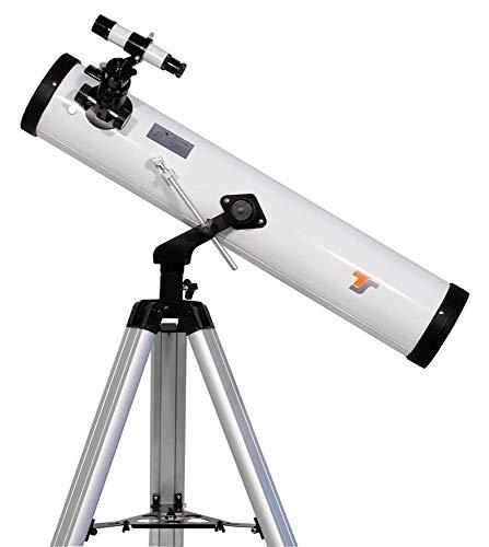 TS-Optics Starscope767 Teleskop für Kinder Erwachsene Einsteiger der Astronomie 76/700 mm Fernrohr Komplettset inkl. Montierung Stativ Okular-Set UVM