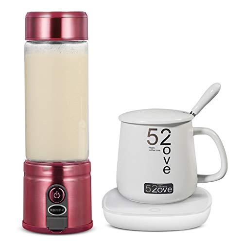 DOOST Draagbare Blender, Smoothie Juicer Cup - Vier 3D Blades, 126W Fruit Blender met USB Charger, Ijs, Afneembare Beker, Perfecte Blender voor Persoonlijk Gebruik (FDA, BPA-vrij)