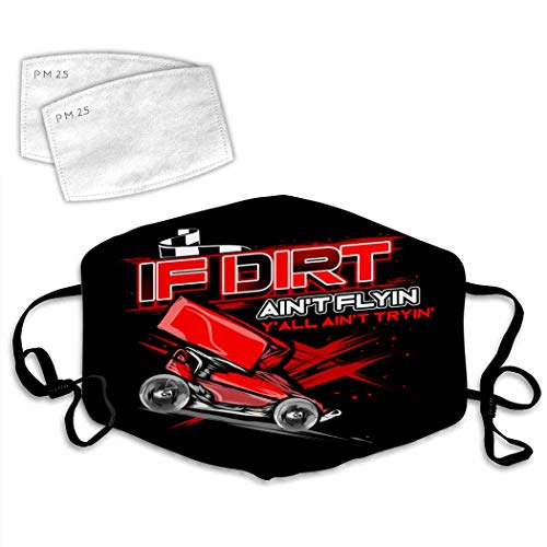 3D Sprint Car Dirt Racing Mouth Cover Anti-Dust Mask Windproof With Adjustable Elastic Strap