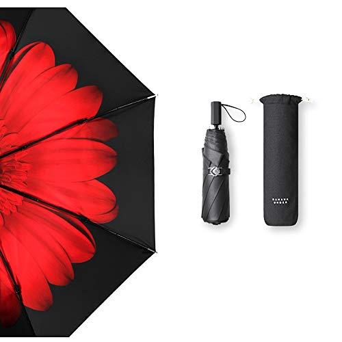 New Rising S Travel Sun Umbrella Lady's Parasol Lightweight Foldable Sunblock UV Protection UPF 50+ ...