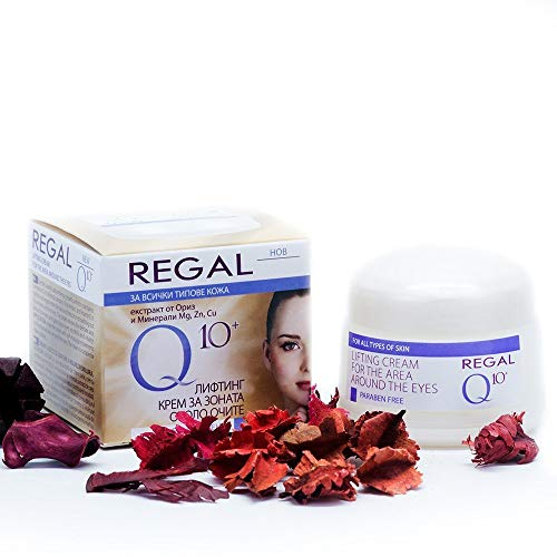 Regal LIFTING CREAM FOR THE AREA AROUND THE EYES - With Co-Enzyme Q10, Vitamins & Rice Extracts - Smoothes Lines & Wrinkles, Long-Lasting Hydration, Gently Lightens - 20ml