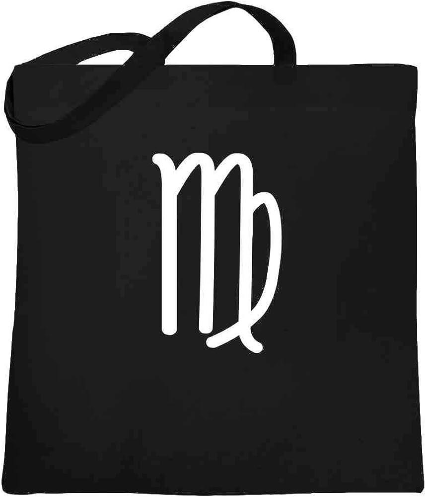 Virgo Zodiac Astrology Symbol Horoscope Large Canvas Tote Bag Women
