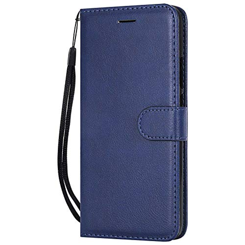 DENDICO Cover Huawei P Smart Plus 2018 / Nova 3I, Premium Portafoglio PU Custodia in Pelle, Flip Libro TPU Bumper Caso per Huawei P Smart Plus 2018 / Nova 3I - Blu Navy
